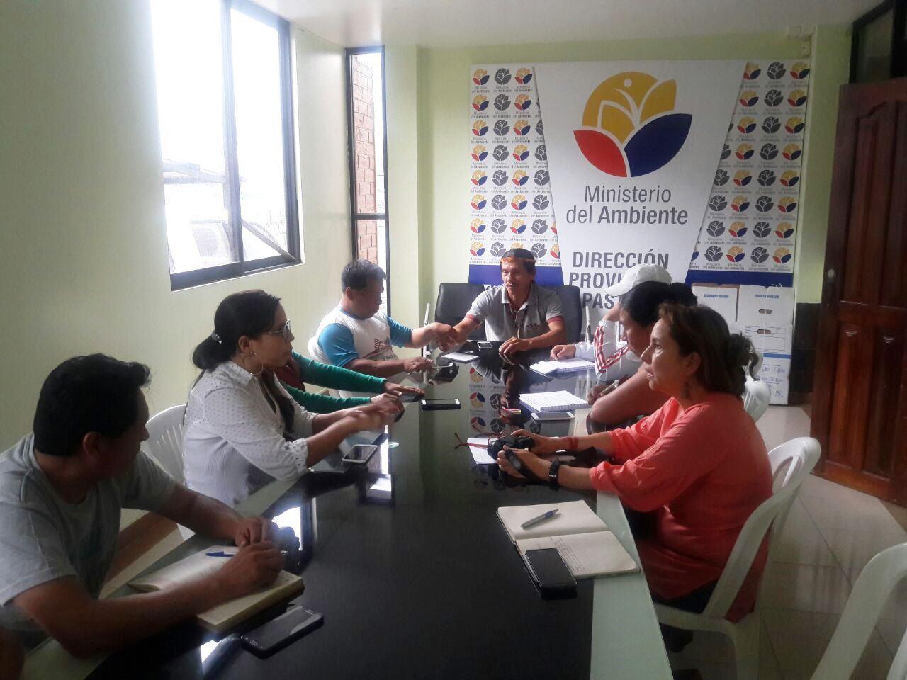 Reunión intersectorial para el Territorio Waorani