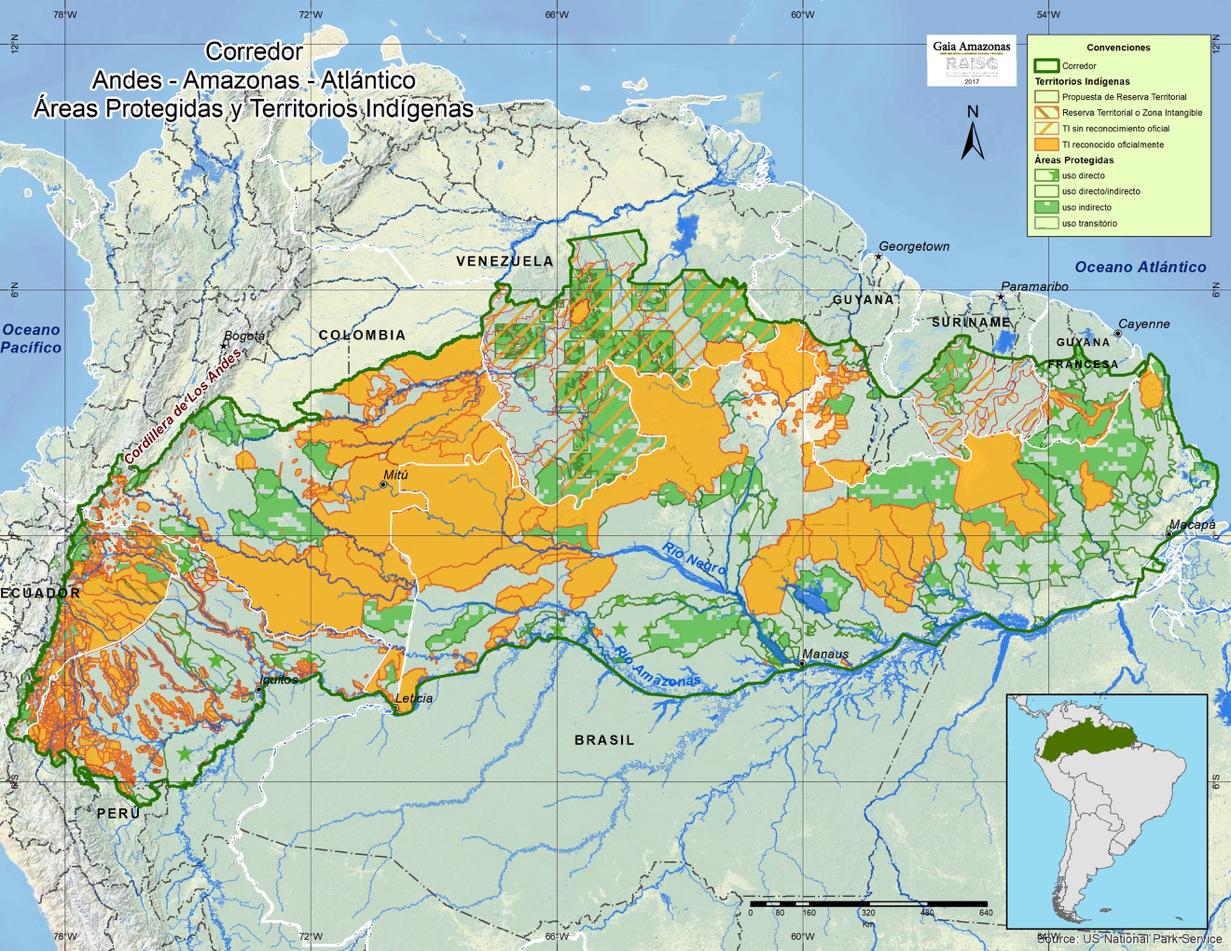 Mapa de extensión del Corredor AAA