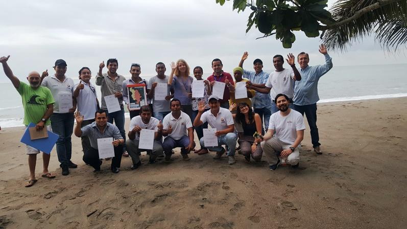Taller de Fomento de sistemas agroforestales de cacao en la Reserva Ecológica Mache Chindul con MAE y MAG
