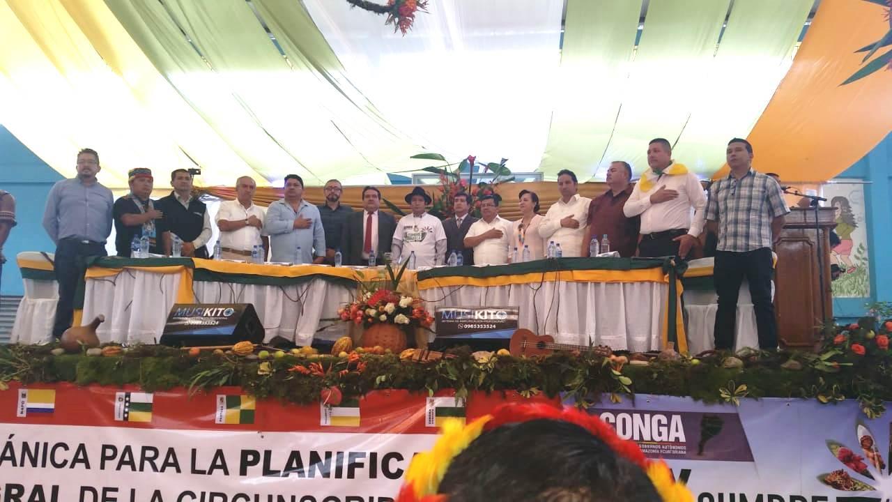 Ecociencia asiste a la reunión de la IX Cumbre Amazónica en la ciudad de Zamora.